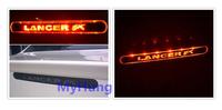 carbon fiber brake light stop lamp sticker car sticker decoration accessories for mitsubishi lancer 20131pc per set