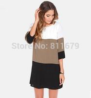 Vestidos Femininos 2015 New Women Dress Fashion Patchwork Plus Size Renda Crochet Dresses
