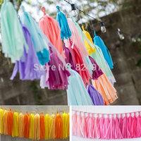 Wholesale 5000 pcs Mylar Tissue Paper Tassel Garland Shiny  for festival wedding decorations birthdays party Free shipping