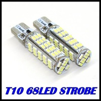 100PCS/LOT 2014 new products t10 Strobe flash w5w t10 68smd 3014SMD  68led smd white & cheap car led Light Bulbs free shipping