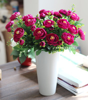 High artificial camellia flower set home decoration accessories furnishings flower artificial flower decoration flower dried
