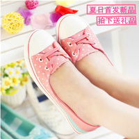 Summer new arrival 2014 shallow mouth canvas shoes female low pedal shoes lazy flat casual shoes