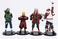 Newest 4pcs/lot Anime Naruto Figure Jiraiya Kakashi Naruto PVC Action Figure Model Toys Free Shipping