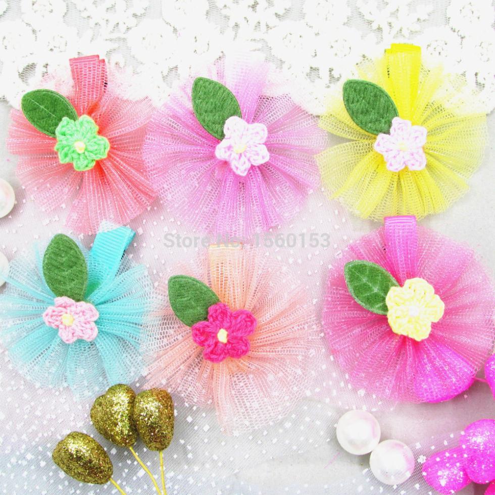 Do pano grade art flower design meninas grampo de cabelo cabelo da moda jóias hairpin BB grampo de cabelo do bebê acessórios mantilha(China (Mainland))