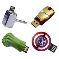 Fashion Avengers Iron Man Hulk Captain America Thor Flash128MB 8GB 32GB 64gb USB Flash 2.0 Memory Drive Stick Pen/Thumb/Car