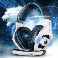 Sades SA-903 Top quality 7.1 channel professional gaming headset usb computer headphone with mic deep bass earphone