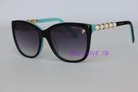 New arrival luxury diamond sunglasses tf4107 square sunglasses women oculos de sol