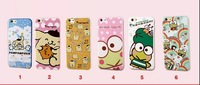 New Fashion cartoon Dog and frog tpu cellphone case for iphone6/6 plus with Retail box