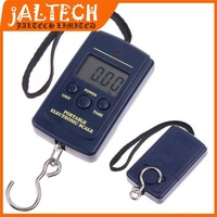 New 40Kg /10g Digital BackLight Hanging Luggage Fishing Pocket Weight Scale Kg Lb OZ (With Backlight)10g