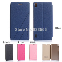 A17 New Fashion PU Flip Case Cover Stand Holder  For Huawei Ascend P7 CN234 P