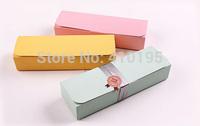 Free shipping wholesale 50pcs/lot 21.5*6.8*4cm fashion 3colors macaron packaging box,cake packaging box