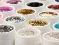 Free shipping!!! 2 Sets Professional Safe 36 Pots Shiny Glitter Shimmer Spangles Nail Art UV Gel for Acrylic Nails