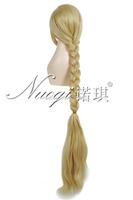 Tangled Rapunzel princess hair long 120cm long Blonde cosplay party full wig Kanekalon Fiber no lace Hair wigs Free shipping