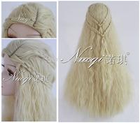 Game of Thrones Daenerys 90cm long Blonde wavy cosplay hair cosplay wig Kanekalon Fiber no lace Hair wigs Free shipping