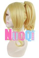 Love Live Gorgeous Seto Eri Medium Blonde Ponytail Synthetic Cosplay WigKanekalon Fiber no lace Hair wigs Free shipping