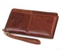 Genuine leather men Wallets 14 card Purse men vintage hand bag direct manufacturers clutch bags card holder 2015 new leather bag