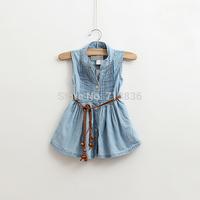 Wholesale Girls new summer baby children denim princess Denim Dress dresses    BB411DS-07