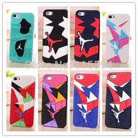 3D Jordan Shoe Sole PVC Rubber Cover Case For Apple iPhone5 iPhone 5 5s Hot sale Jumpman 15 Colors Phone Cases
