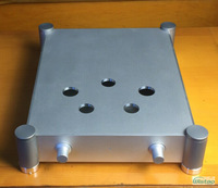 Tube Amplifier Casing for 300B WHFT-A300B Whole Aluminum W342 H84 D430 Been Cut Holes Blasting Silver Chasis Audio HIFI DIY