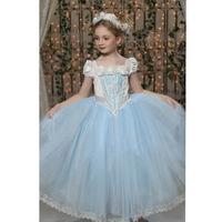 Forzen  children ice  Girl Dress Cape Winter romance two set wholesale S&L