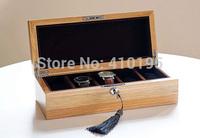 High Quality Free shipping wholesale fashion oak 5lattice watch display box,watch packaging box