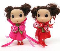 Ddung pendant doll 12pcs 12cm exquisite rose skirt bouquet girl bag key chain wedding candies gift children prize wholesale