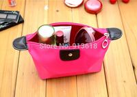 1PCS Women's Waterproof Large Capacity Cosmetic Bag Candy Color Nylon Zipper Cosmetic Case Box Makeup Case