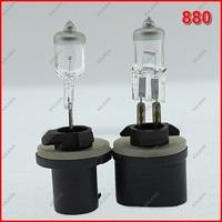 2 PCS 12V 27W 880 Halogen Bulb Supper Bright Transparent Quartz Glass Car Headlight & Fog lamp Universal  Free Shipping ^^KKK