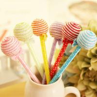 24pcs/lot Cute Creative Lollipop Ballpoint Pens Kawaii Novelty Ball Pen School Office Stationery Student Gifts Wholesale