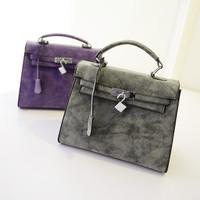 2014 women's handbag nubuck leather cross-body handbags