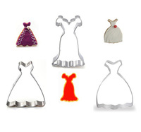 New Princess wedding dress sets Metal Cookie Cutter Mousse mold baking tools for Biscuit 3Pcs/lot  Free shipping