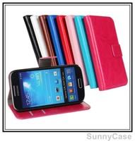 Retro Crazy Horse Wallet Leather Case for Samsung i9190 Galaxy S4 mini i9192