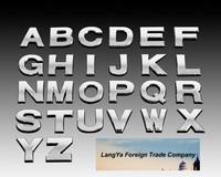DIY automobile logo badge emblem brands marks 3D English letter stickers for car body decoration