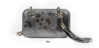 2015 fashion style women snake skin evening clutch women designer wallets metal clutch purse party bags with tassel 48N