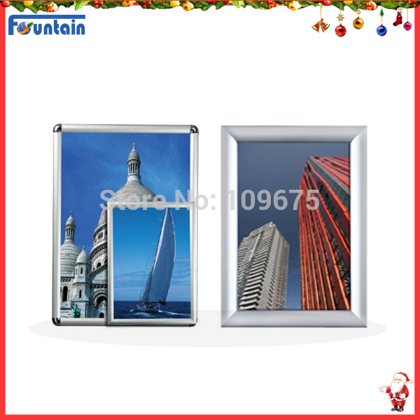 Merry Christmas ! !Professional front four sides easy open Snap frame,Clip frame,Picture frame,Poster frame(China (Mainland))