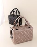2014 women's vintage handbag fashion plaid   cosmetic bag shaping messenger bags