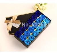 18 soap rose Flowers box set Creative romantic valentine's day gift decoration  soap roses flower home decor