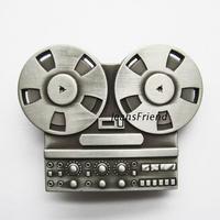 Buckle musical instrument series Tape Casettle Record belt buckle antique finish no color 3D Western Belt Buckle