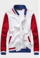 New Men's Clothing Stand Collar Sweatshirt Baseball Uniform Casual Cardigan Clothes Free Shipping