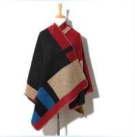 Hot Selling! Autumn Winter Women Brand B Pashmina ,Wool Acrylic Splice Fashion Poncho Scarves