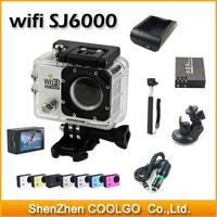 "2014 New SJ6000 WIFI Action Camera 12MP Full HD 1080P 30FPS 2.0""LCD Diving 30M Waterproof Sport DV SJ6000 Camera Free Shipping"