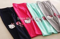 5 pcs/lot / 2015 girls hello kitty leggings / cute children cartoon tights / kids pencil pants
