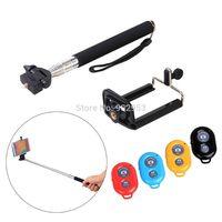 Crazy Sale 3in1/set remote shutter+handheld monopod+phone holder for selfie
