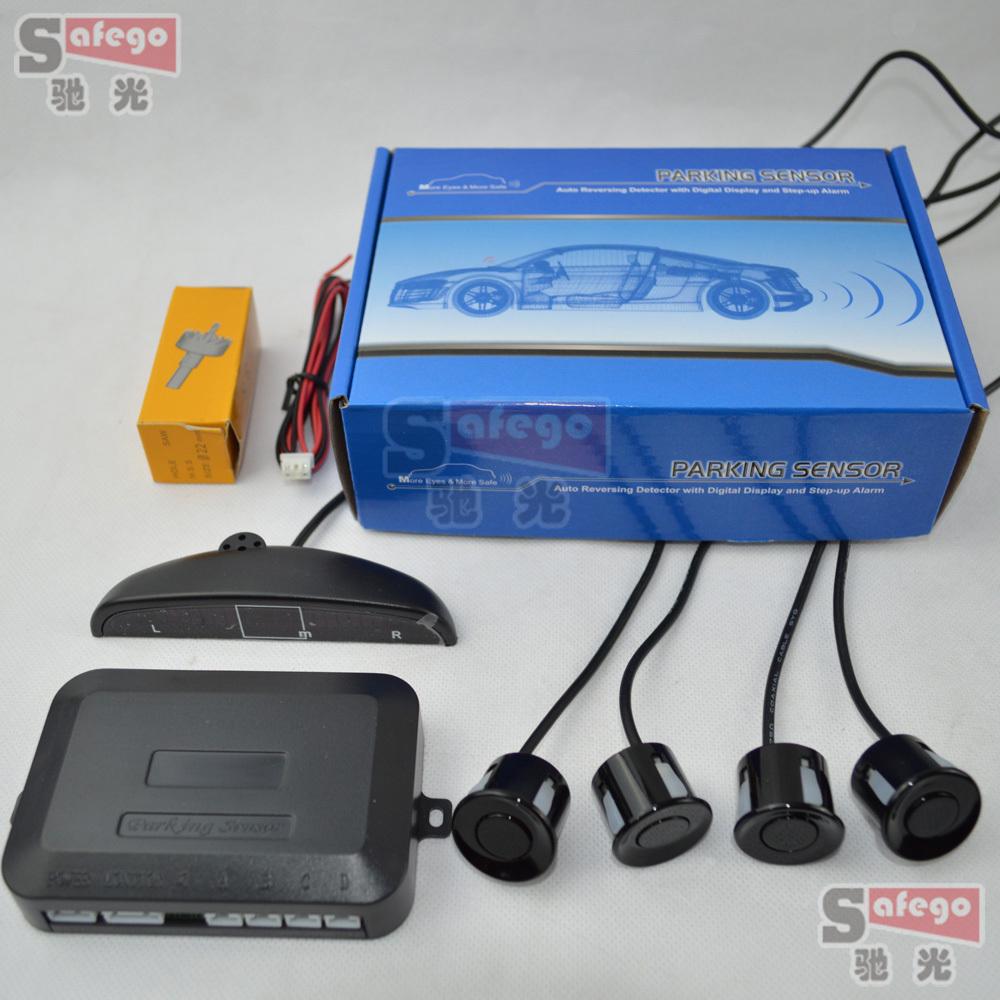 10sets Car LED Parking Sensor Assistance Reverse Backup Radar Monitor System Backlight Display+4 Sensors(China (Mainland))