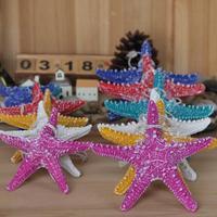 Mediterranean style resin starfish fingers, hangings wall stickers starfish fingers, kawaii vintage home decor, set / 2pcs
