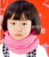 2014New Summer and Winter Warm Scarf Children Baby Boy Girls Knitted O-Scarf ,kids candy warm neck bib scarf