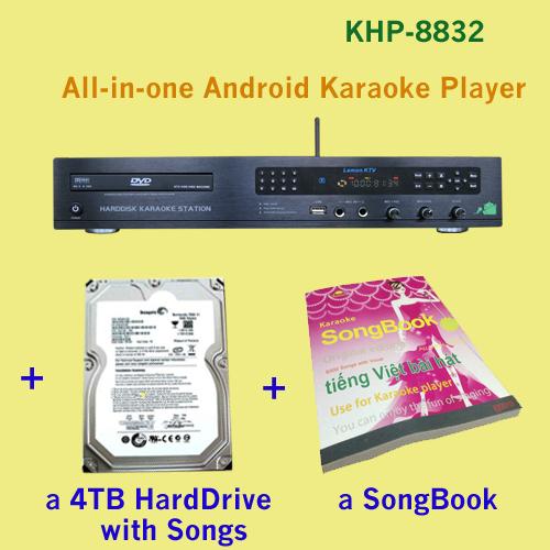Караоке Lemon KTV,SINGMATE 8832 27, 850 & + DVD/4TBHDD HDMI 1080P , mic KHP-8832 караоке lemon ktv singmate 8826 27850