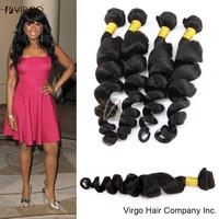 Peruvian Virgin Hair Loose Wave 3pcs Peruvian Human Hair Weave Bundles Virgin Peruvian Hair Loose Curly Hair Free Shipping