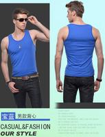 Men's jogging sport suit close-fitting vest tight elastic lycra cotton undershirt bodybuilding men outdoor fitness vest