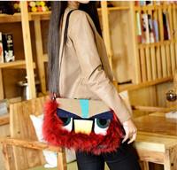 2014 New Designer Mink Fox Fur Monster Women Handbag Shoulder Bag Fashion Bag Messenger Bag